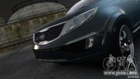 Kia Sportage 2010 v1.0 para GTA 4 Vista posterior izquierda