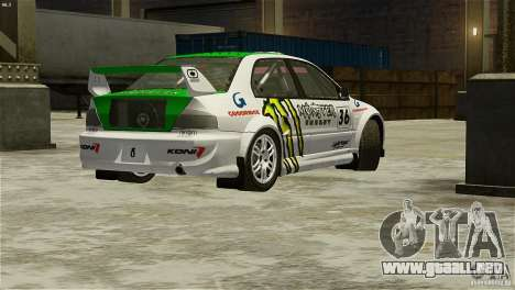 Mitsubishi Lancer Evolution IX RallyCross para GTA 4 left