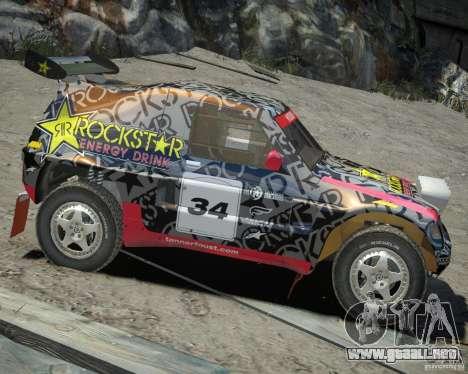Mitsubishi Pajero Proto Dakar EK86 vinilo 1 para GTA 4 vista hacia atrás