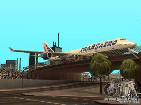 Boeing 747-400 para GTA San Andreas vista hacia atrás