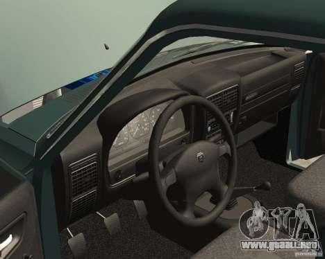 Volga GAZ 3110 para vista lateral GTA San Andreas