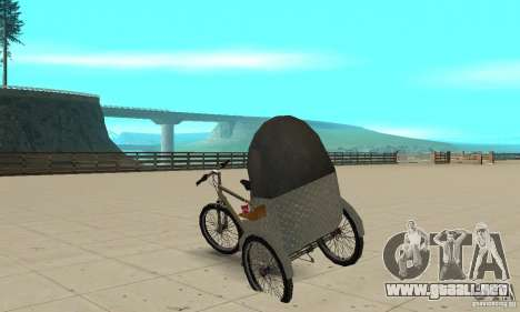 Manual Rickshaw v2 Skin1 para GTA San Andreas vista posterior izquierda