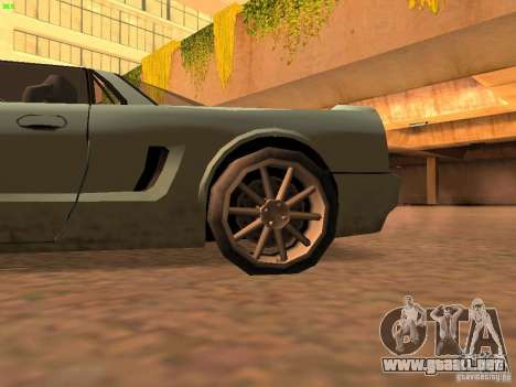 Infernus Revolution para GTA San Andreas vista posterior izquierda