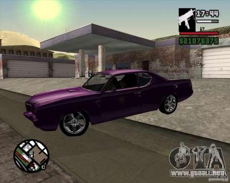 Oldsmobile 442 (Flatout 2) para la visión correcta GTA San Andreas