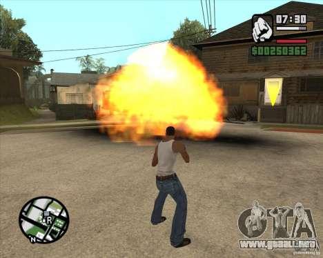 Explosión (versión para portátiles sin teclado n para GTA San Andreas segunda pantalla
