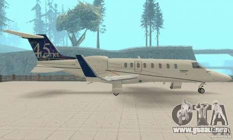 Bombardier Leardjet 45XR para la visión correcta GTA San Andreas