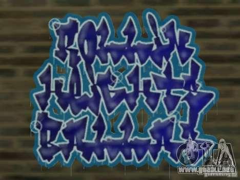New LS gang tags para GTA San Andreas quinta pantalla
