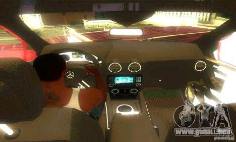 Mercedes-Benz ML500 para GTA San Andreas vista hacia atrás