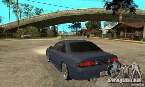 Nissan Silvia S14 Zenki para GTA San Andreas vista posterior izquierda