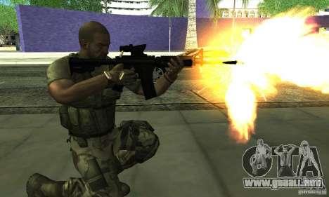 Sam Fisher Army SCDA para GTA San Andreas tercera pantalla