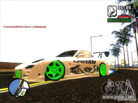 Mazda RX-7 Drift Version para GTA San Andreas left