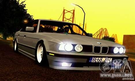 BMW E34 525i para vista inferior GTA San Andreas