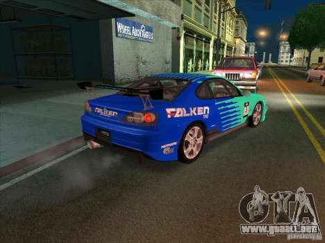 Nissan Silvia S15 Tunable KIT C1 - TOP SECRET para vista lateral GTA San Andreas