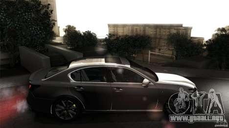Lexus GS350F Sport 2013 para GTA San Andreas vista hacia atrás