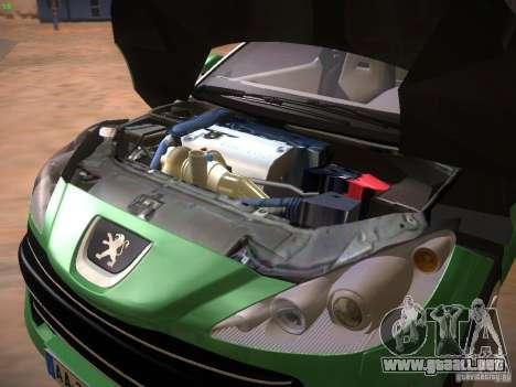 Peugeot RCZ 2010 para visión interna GTA San Andreas