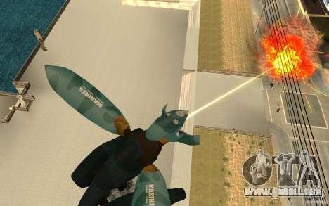 Metal gear ray para GTA San Andreas segunda pantalla