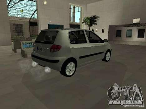 Hyundai Getz para GTA San Andreas vista posterior izquierda