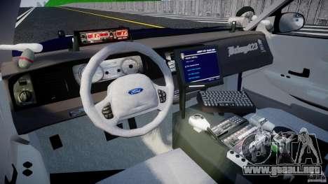 Ford Crown Victoria Homeland Security [ELS] para GTA 4 visión correcta