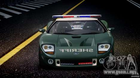 Ford GT1000 Hennessey Police 2006 [EPM][ELS] para GTA 4 interior