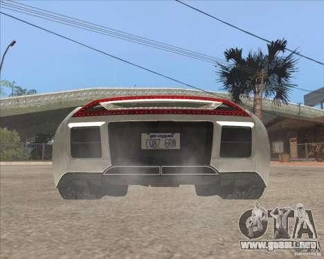 Saleen S5S Raptor para GTA San Andreas vista posterior izquierda