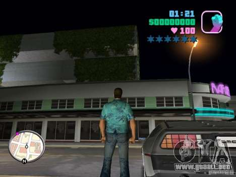 Delorean DMC-12 para GTA Vice City visión correcta