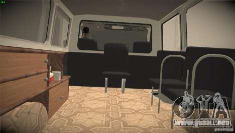 RAF 22031 ambulancia para visión interna GTA San Andreas
