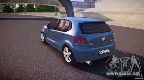 Volkswagen Polo 2011 para GTA 4 Vista posterior izquierda