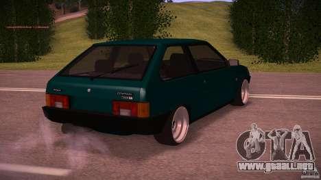 VAZ 2108 baja Classic para GTA San Andreas vista posterior izquierda