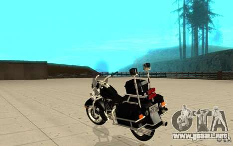 GTAIV TBOGT PoliceBike para GTA San Andreas vista posterior izquierda