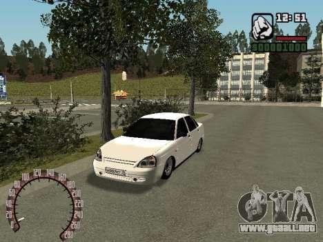 VAZ-2170 para GTA San Andreas vista posterior izquierda
