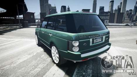 Range Rover Supercharged v1.0 para GTA 4 Vista posterior izquierda
