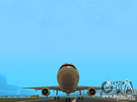 McDonell Douglas DC10 Continental Airlines para GTA San Andreas vista hacia atrás