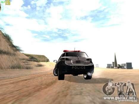 Lexus CT200H Japanese Police para vista lateral GTA San Andreas
