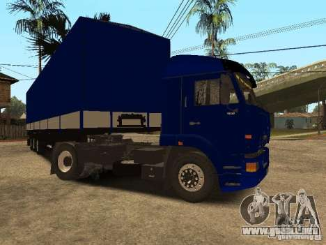 Camioneros KAMAZ 5460 2 para GTA San Andreas left