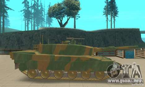 JGSDF Type90 tanque para GTA San Andreas vista posterior izquierda