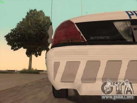 Ford Crown Victoria Vancouver Police para GTA San Andreas interior