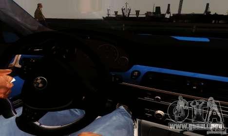 BMW M5 F10 2012 para la visión correcta GTA San Andreas