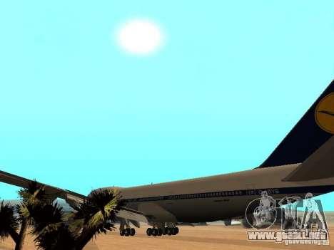 Boeing 747-100 Lufthansa para visión interna GTA San Andreas