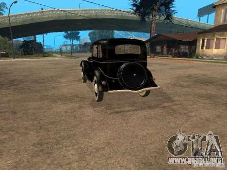 Gaz M1 para GTA San Andreas vista posterior izquierda
