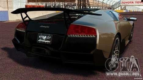 Lamborghini Murcielago LP670-4 SV [EPM] para GTA 4 Vista posterior izquierda
