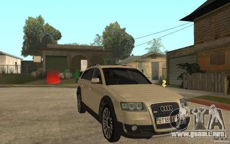 Audi Allroad Quattro para GTA San Andreas vista hacia atrás