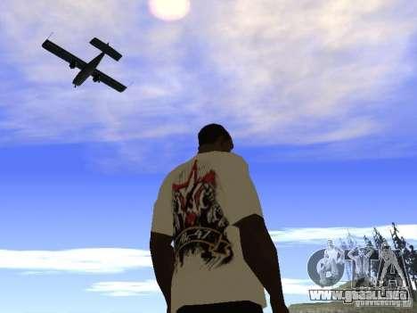 Camiseta NoGGano228 y AK 47 para GTA San Andreas quinta pantalla