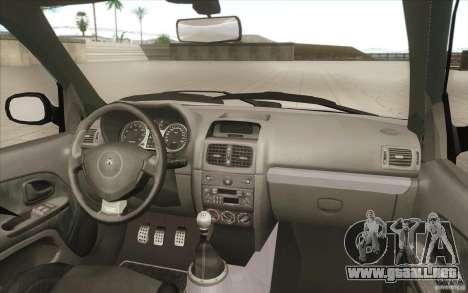 Renault Clio V6 para vista inferior GTA San Andreas