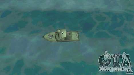 Río bote patrulla Mark 2 (Player_At_Wheel) para GTA Vice City visión correcta