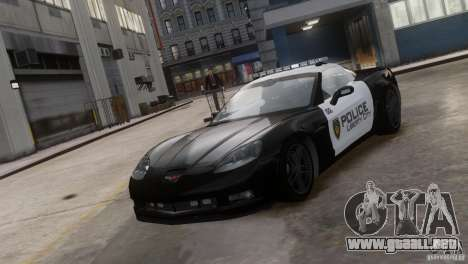Chevrolet Corvette LCPD Pursuit Unit para GTA 4
