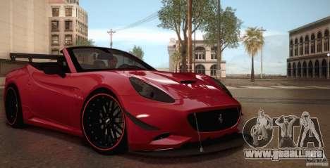 Ferrari California para GTA San Andreas interior