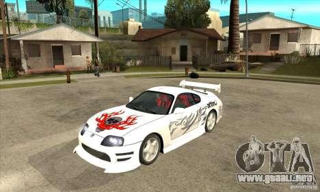 Toyota Supra NFSMW Tunable para la vista superior GTA San Andreas