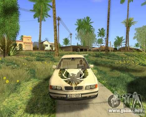 BMW 730i E38 1996 para GTA San Andreas vista hacia atrás