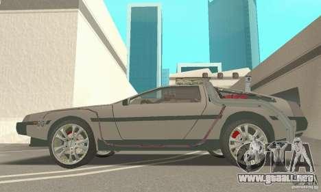 DeLorean DMC-12 (BTTF3) para la visión correcta GTA San Andreas