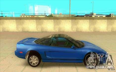 Honda NSX 1991 stock para GTA San Andreas left